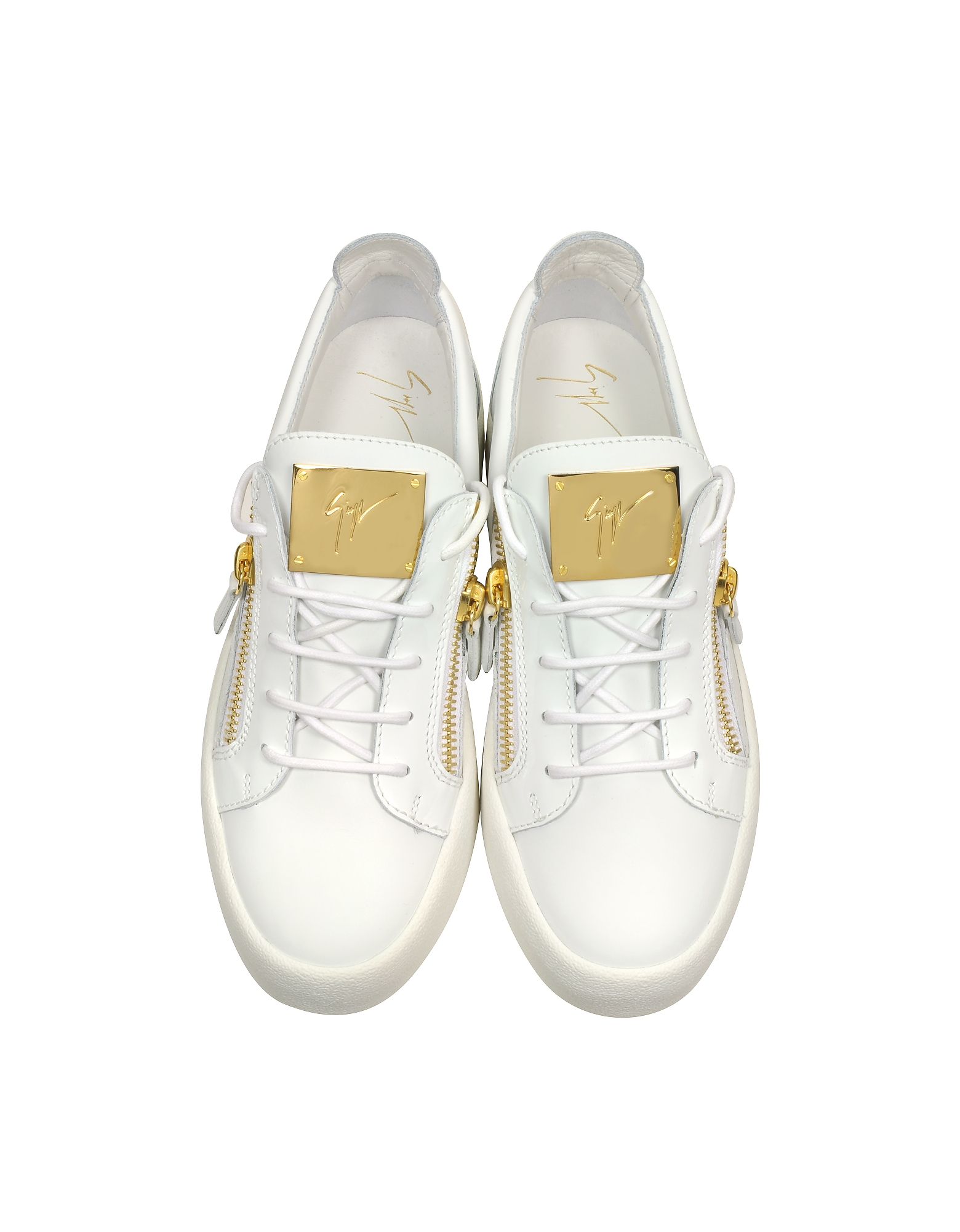White Leather Low Top Sneaker от Forzieri INT
