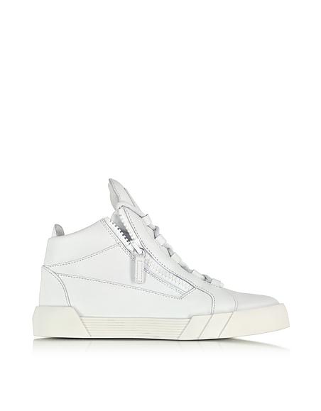Foto Giuseppe Zanotti Sneaker da Donna in Pelle Bianco Opaco Scarpe