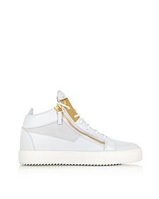 Высокие Белые Кожаные Мужские Кроссовки - Giuseppe Zanotti