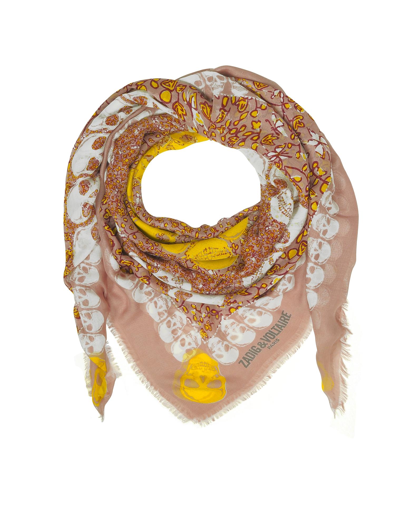 Image of Zadig & Voltaire Designer Scarves, Modal Printed Kerry Garden Wrap