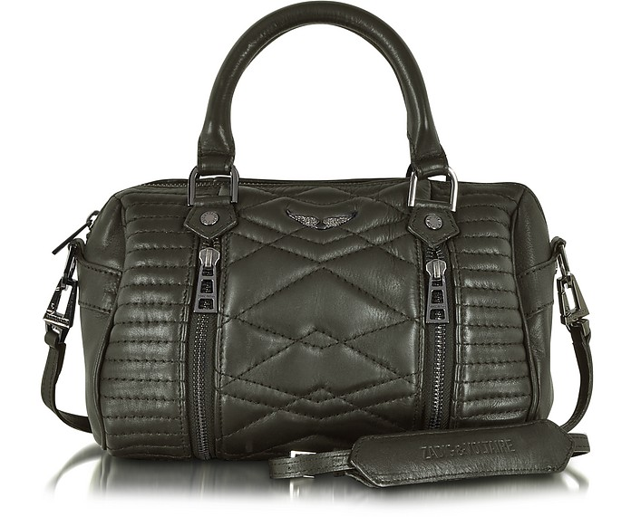 XS Sunny Mat Matelasse Leather Satchel w/Shoulder Strap - Zadig & Voltaire