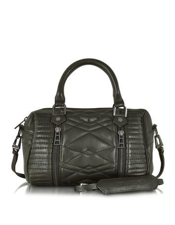 XS Sunny Mat Matelasse Leather Satchel w/Shoulder Strap