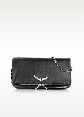 Rock Black Leather Clutch - Zadig & Voltaire