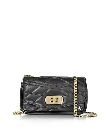Zadig & Voltaire - Black Quilted Leather Skinny Love Clutch
