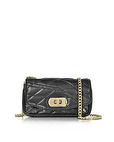 Black Quilted Leather Skinny Love Clutch - Zadig & Voltaire