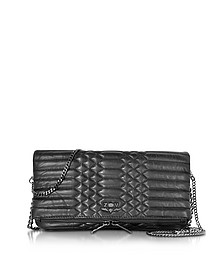 Black Quilted Leather Rock Mat Scales - Zadig & Voltaire
