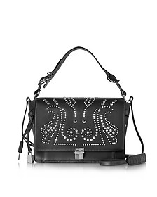 Studded Black Leather Optimist Shoulder Bag - Zadig & Voltaire