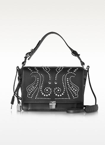 Studded Black Leather Optimist Shoulder Bag - Zadig & Voltaire