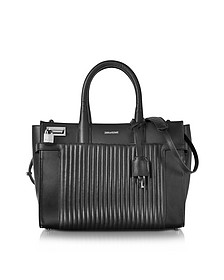 Black Leather Candide Medium Tote Bag - Zadig & Voltaire