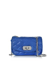 Cobalt Blue Quilted Leather Skinny Love Clutch - Zadig & Voltaire