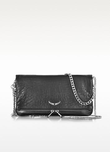 Rock Bubble Leather Clutch w/Chain Strap - Zadig & Voltaire