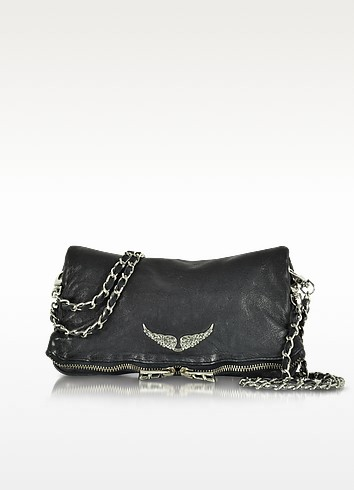Rock Deep Dye Marine Leather Foldable Clutch - Zadig & Voltaire