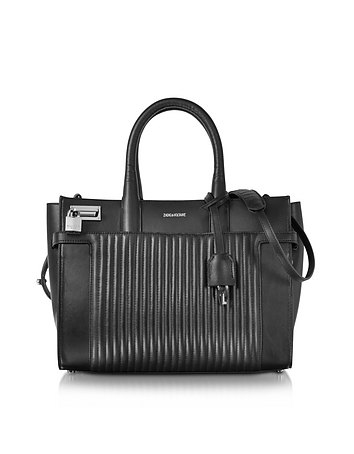 Zadig & Voltaire - Black Leather Candide Medium Tote