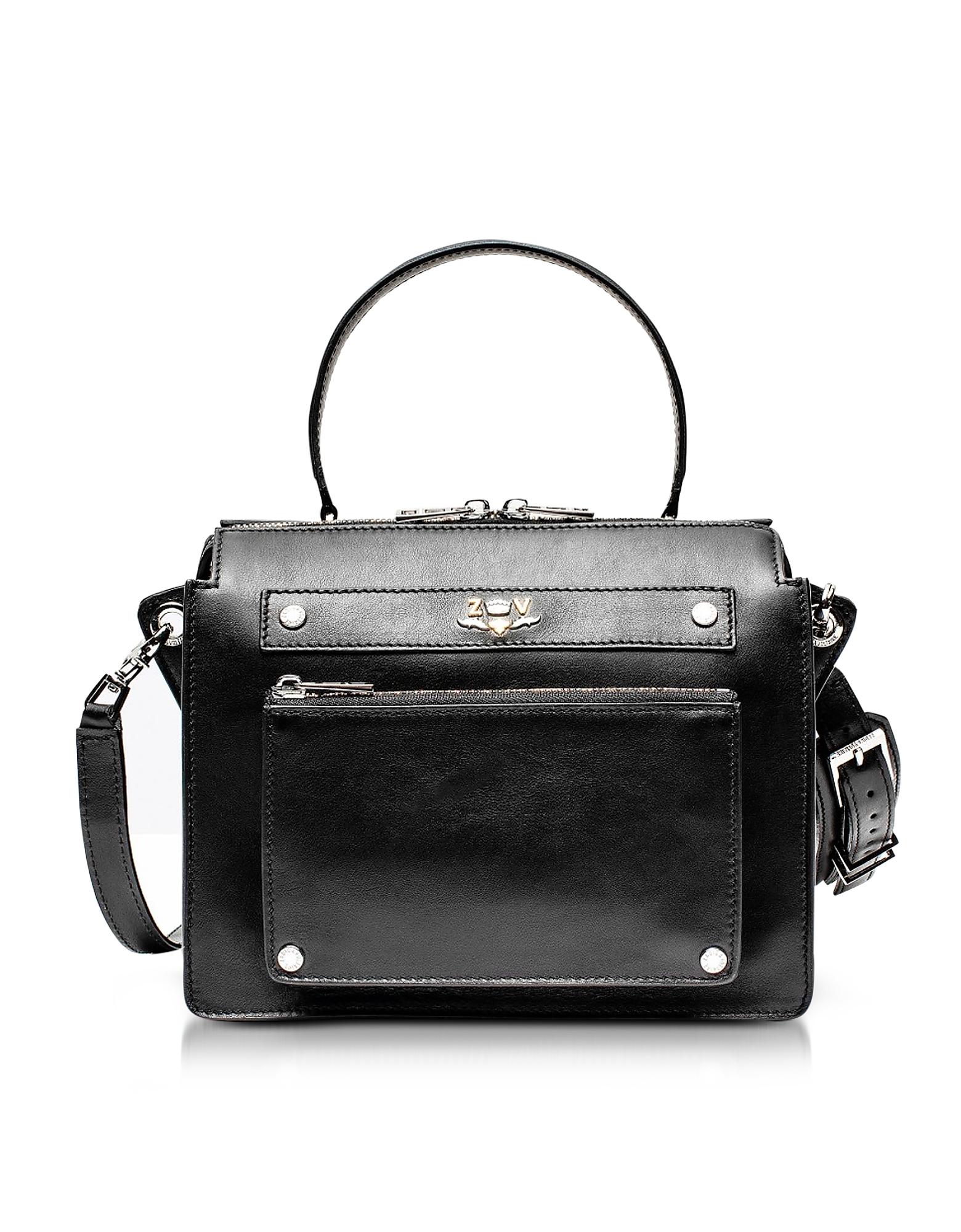 Zadig & Voltaire Handbags, James Black Leather Shoulder Bag