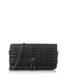 Black Quilted Leather Foldable Rock Mat Clutch - Zadig & Voltaire
