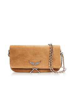 Cumin Suede Foldable Rock Clutch - Zadig & Voltaire