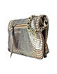 Rock - Snake Gold Leather Clutch - Zadig & Voltaire