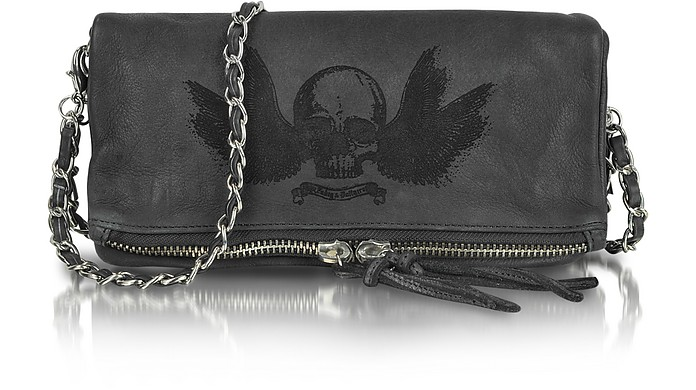Rock Deep Dye Leather Clutch - Zadig & Voltaire