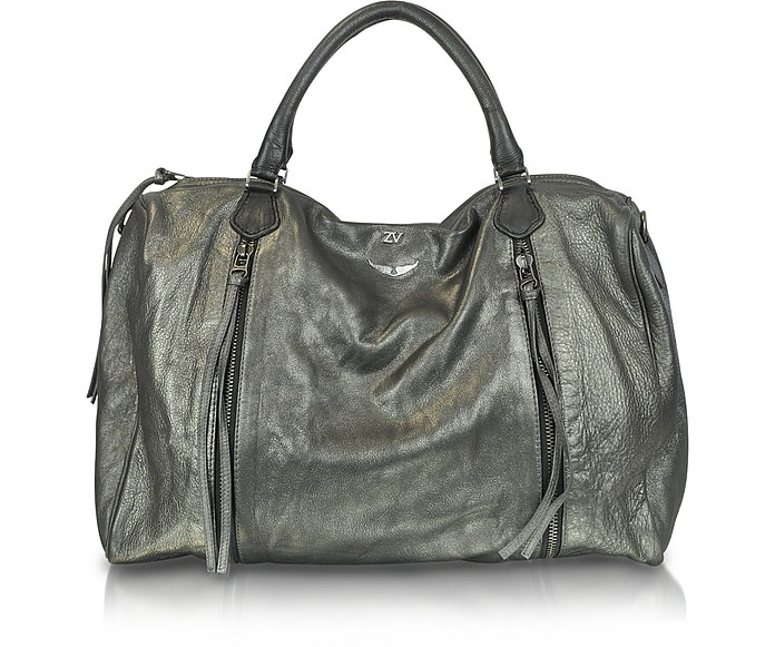 Middle Sunny Oversize Leather Satchel - Zadig & Voltaire