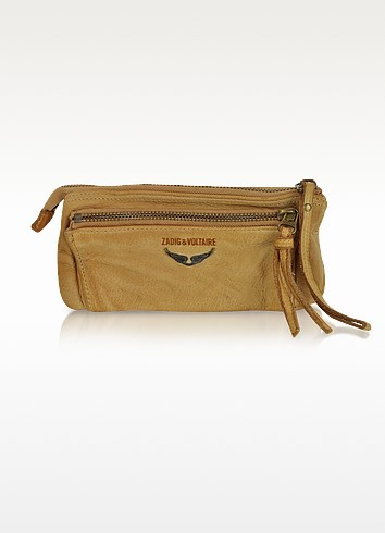 Etoile Genuine Leather Clutch - Zadig & Voltaire