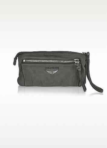 Etoile Genuine Leather Clutch - Zadig & Voltaire