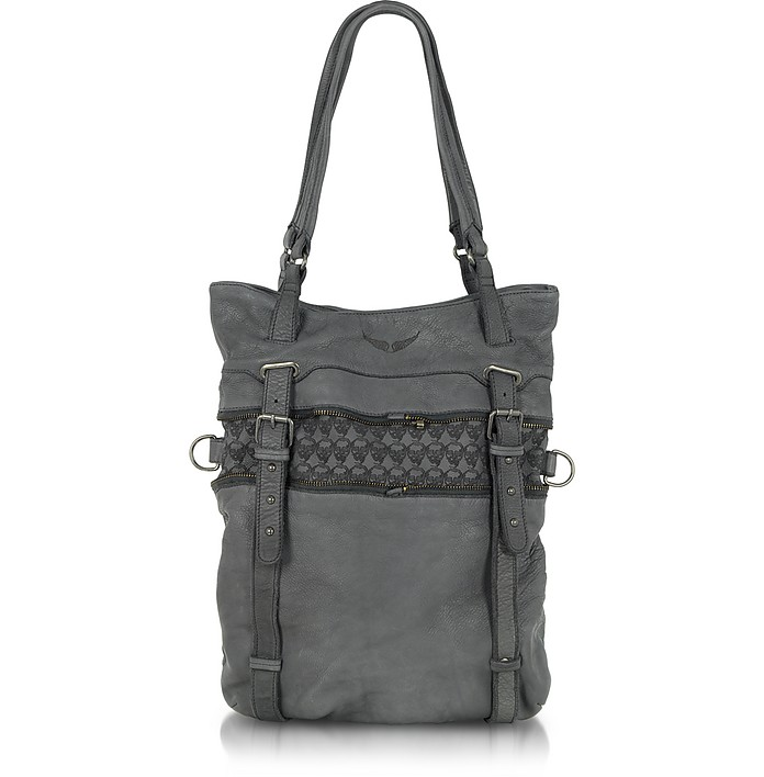 Cabas Touly Stamp - Leather Tote Bag - Zadig & Voltaire