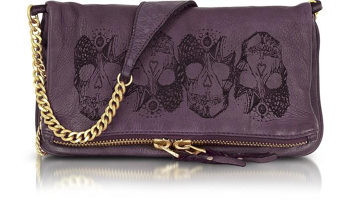 Rock Stamp Leather Clutch/Shoulder Bag - Zadig & Voltaire