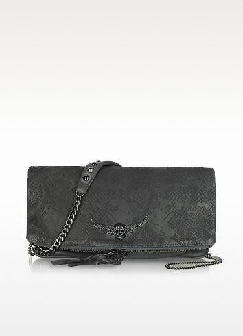 Embossed Leather Rock Clutch - Zadig & Voltaire