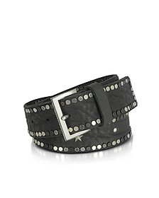 Black Studded Leather Starlight Belt  - Zadig & Voltaire
