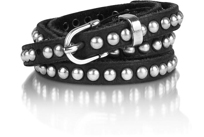 Jessy Black Studded Leather Belt - Zadig & Voltaire