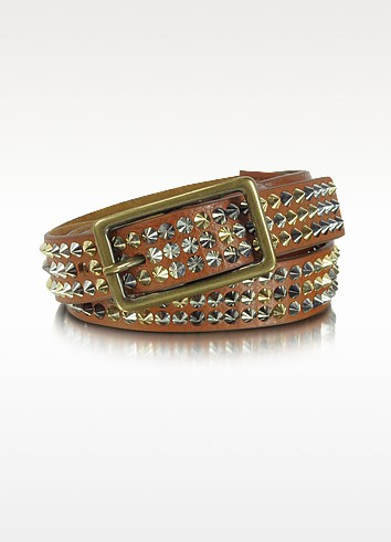 Neo Vicky - Studded Leather Belt - Zadig & Voltaire