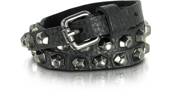 Jessy Boulons - Black Leather Studded Belt - Zadig & Voltaire