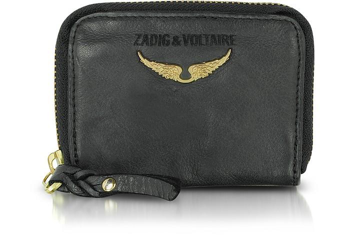 Black Leather Mini Pouch - Zadig & Voltaire