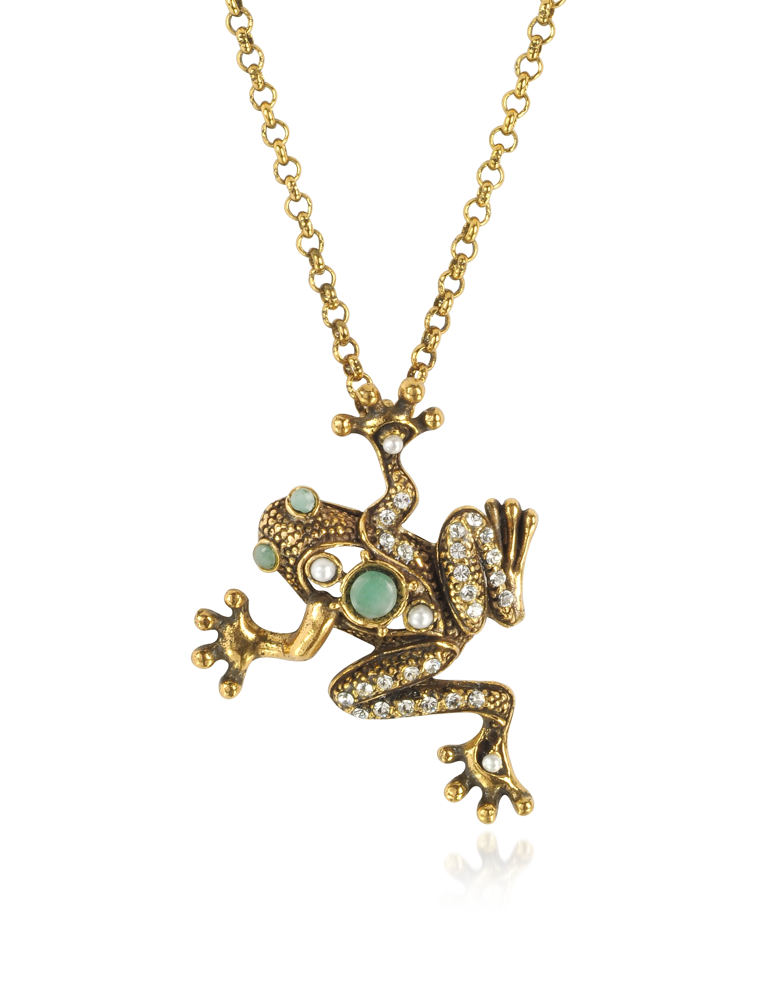 Forzieri coupon: Alcozer & J  Necklaces Brass Frog Necklace
