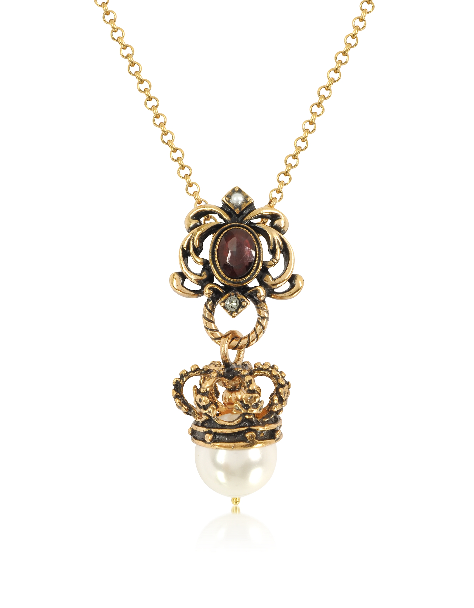 Forzieri coupon: Alcozer & J  Necklaces Crown and Pearl Necklace