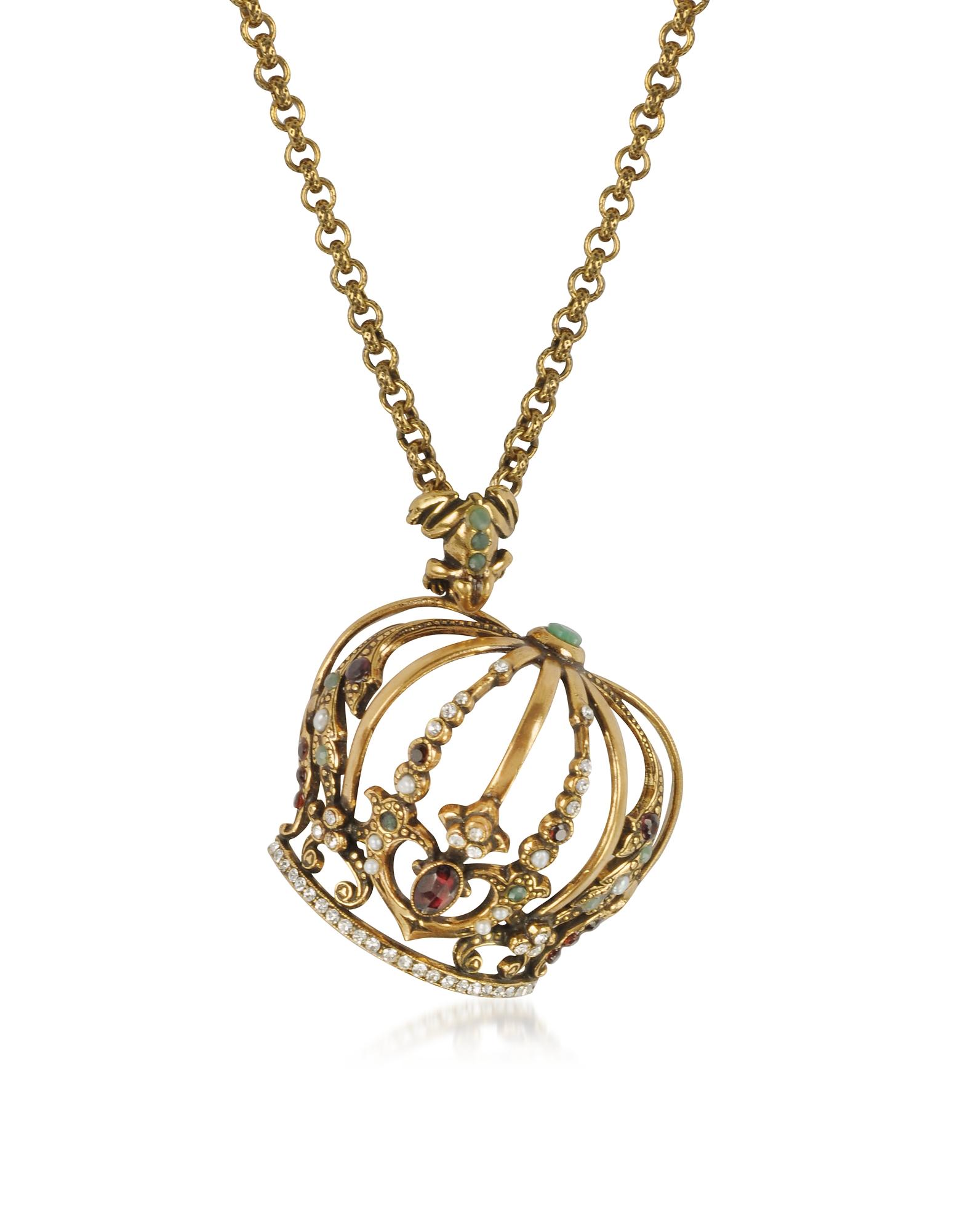 Forzieri coupon: Alcozer & J  Necklaces Golden Brass Little Goddess Necklace