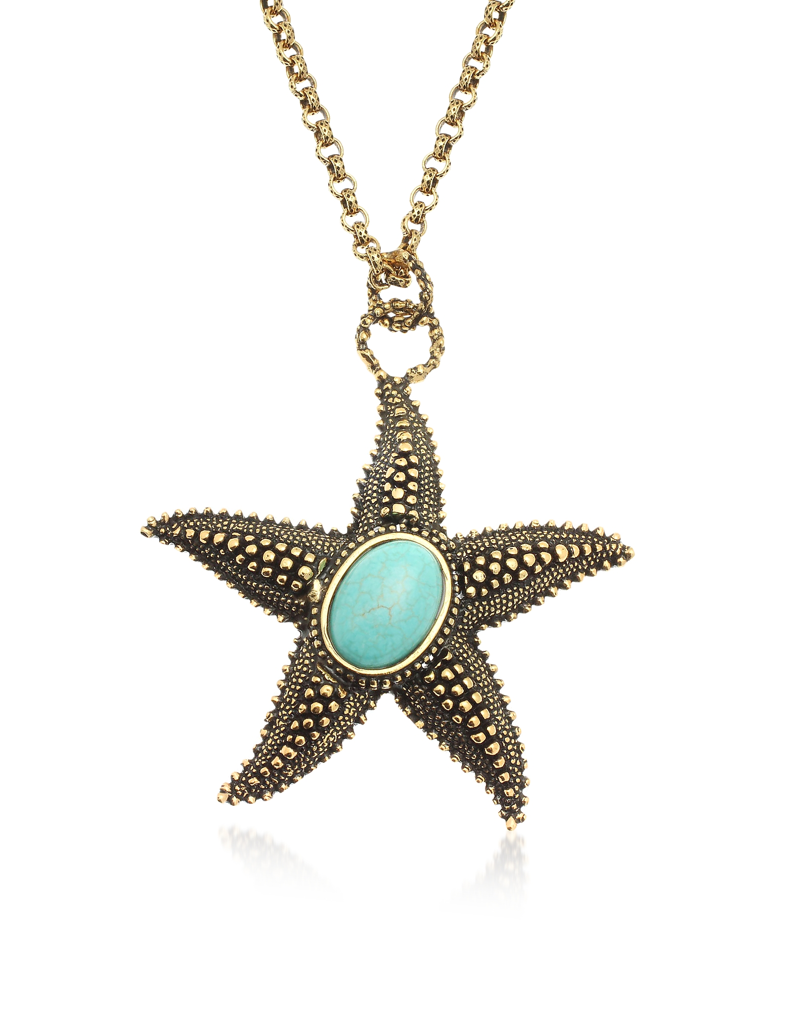 Forzieri coupon: Alcozer & J  Necklaces Starfish Brass Necklace with Magnesite Heart