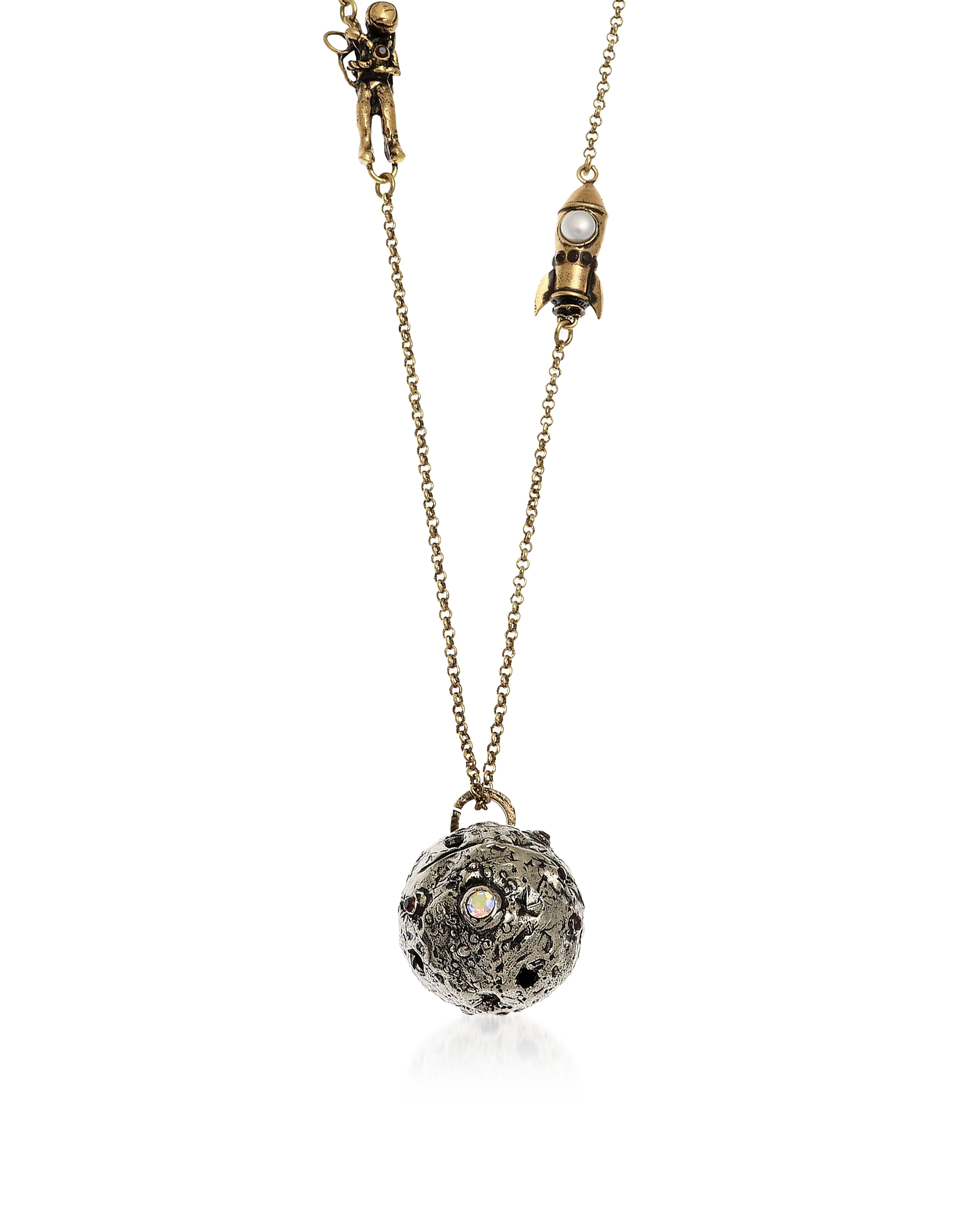 Forzieri coupon: Alcozer & J  Necklaces Astronaut and Shuttle Landing Necklace with Pearl and Garnet.