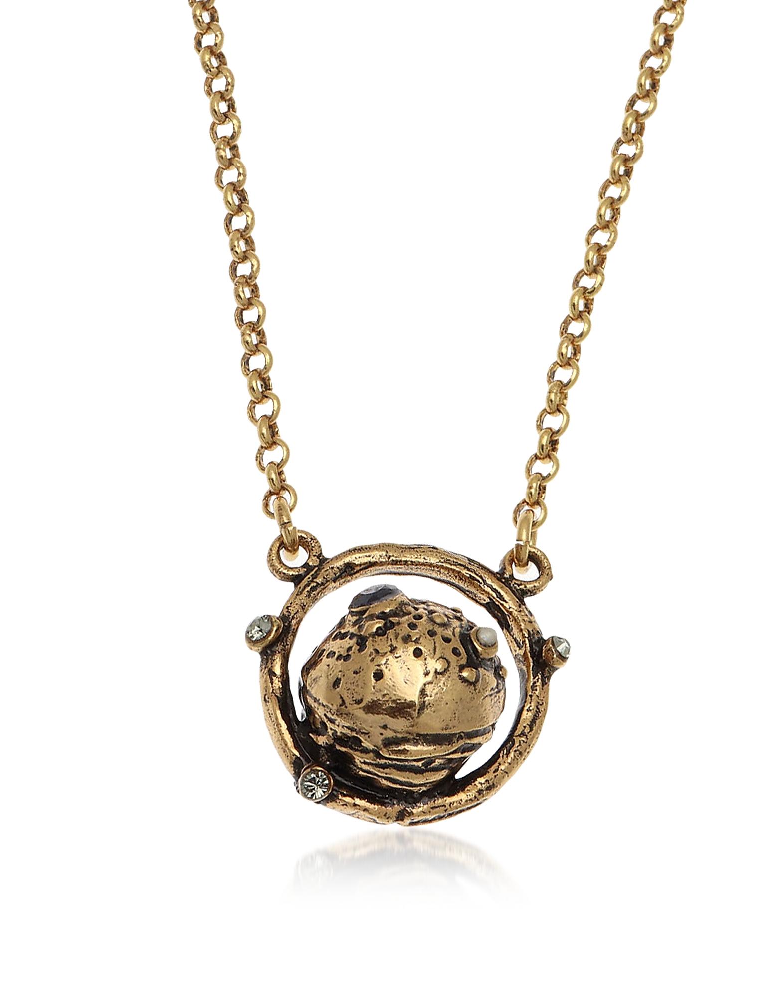Forzieri coupon: Alcozer & J  Necklaces Golden Brass Saturn Necklace