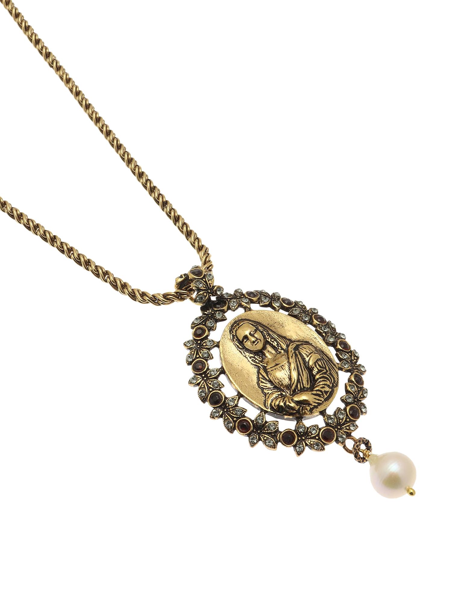 Forzieri coupon: Alcozer & J  Necklaces Golden Brass Monnalisa Necklace