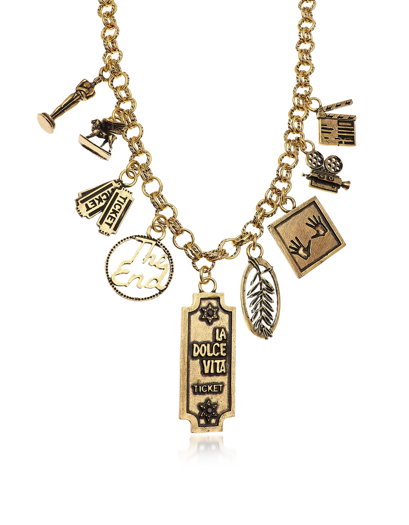 Forzieri coupon: Alcozer & J  Necklaces Golden Brass Cinema Charms Necklace