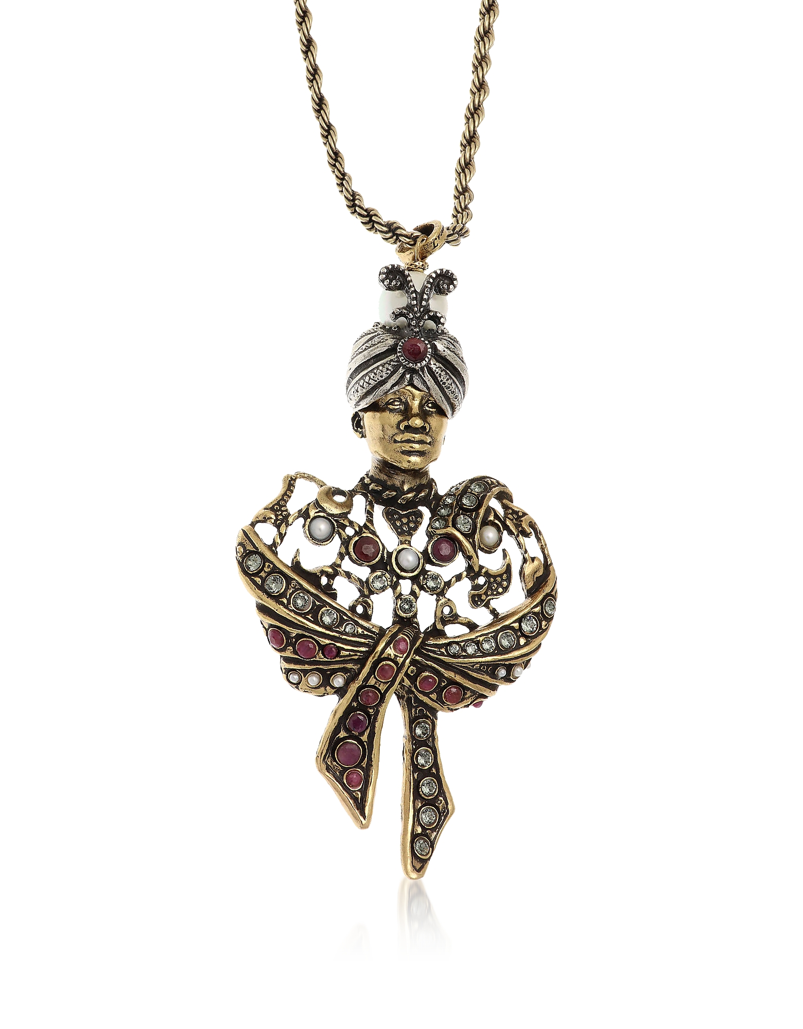 Forzieri coupon: Alcozer & J  Necklaces Golden Brass Moro Charms Necklace