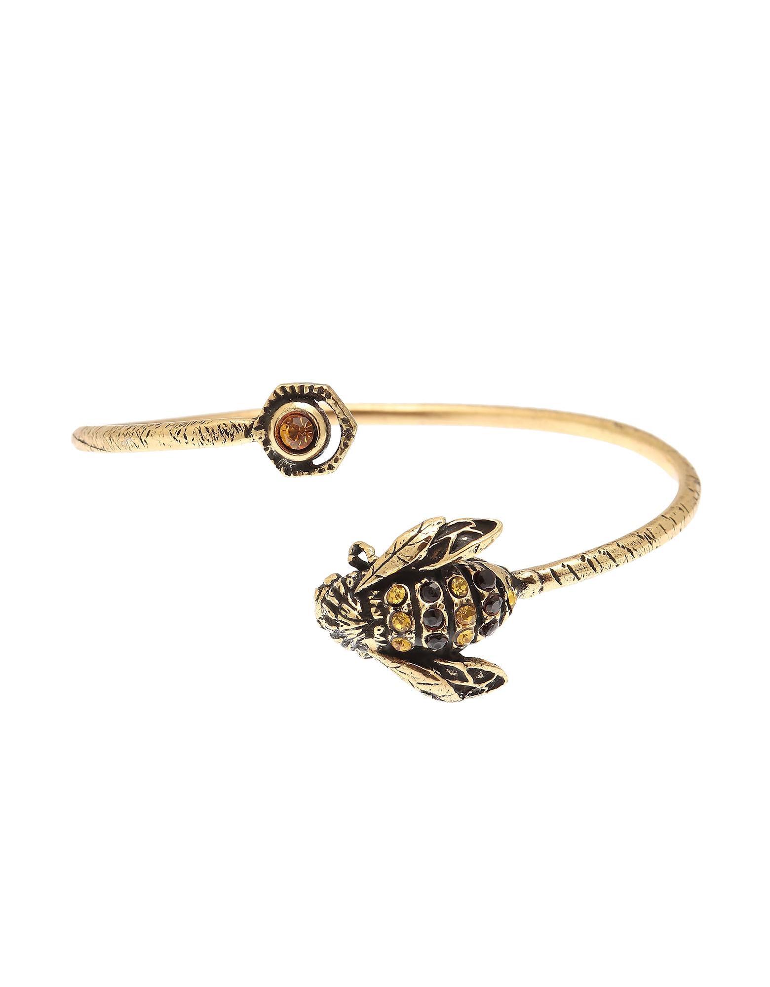 Forzieri coupon: Alcozer & J  Bracelets Eucalipto Golden Brass Bangle w/Swarovski and Garnet