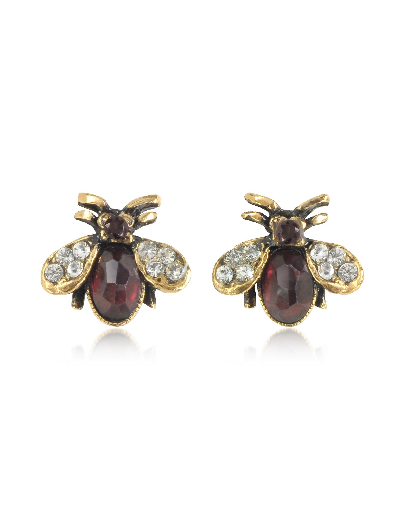 Forzieri coupon: Alcozer & J  Earrings Moschina Earrings w/Garnet
