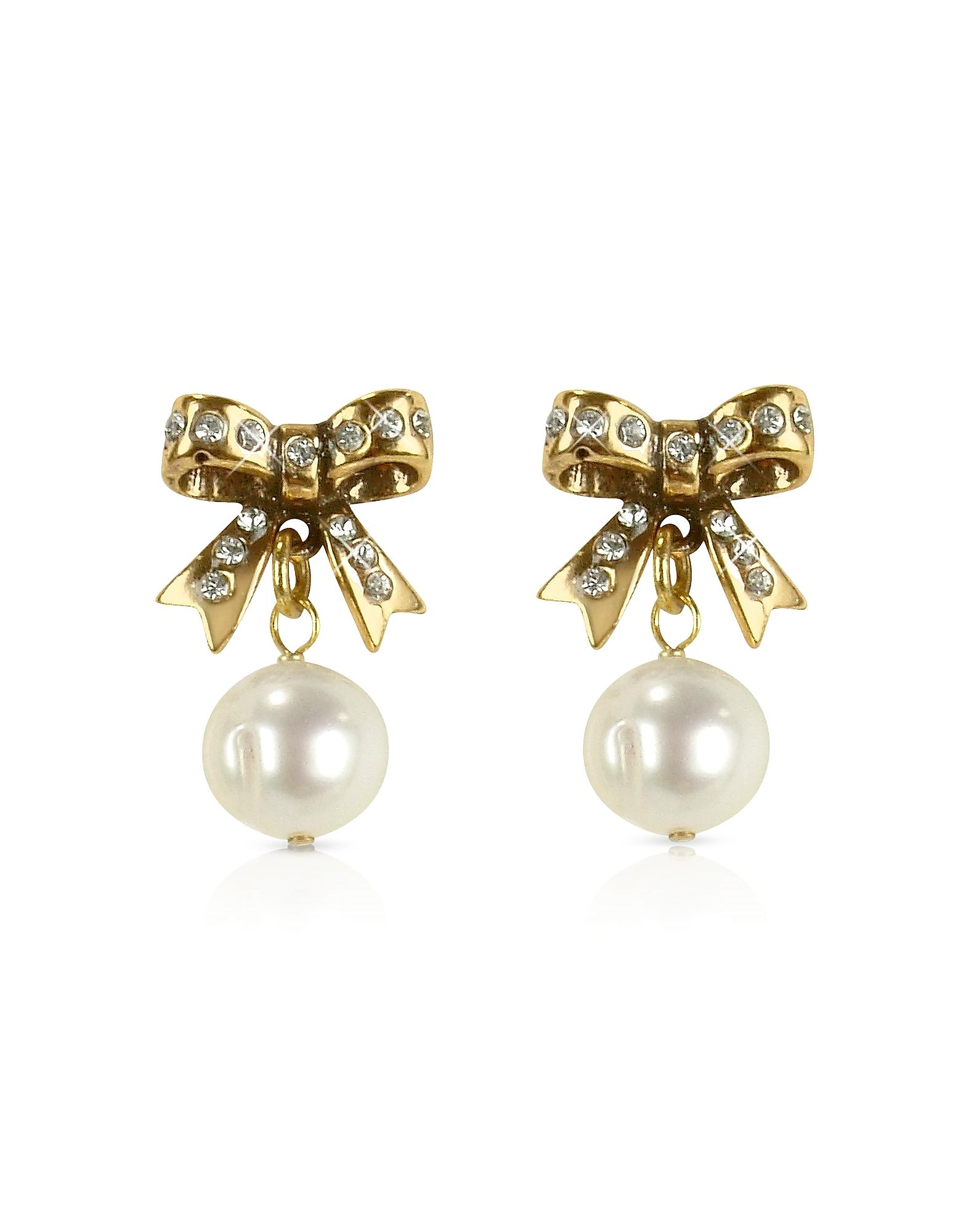 Forzieri coupon: Alcozer & J  Earrings Little Bow Earrings w/Pearls