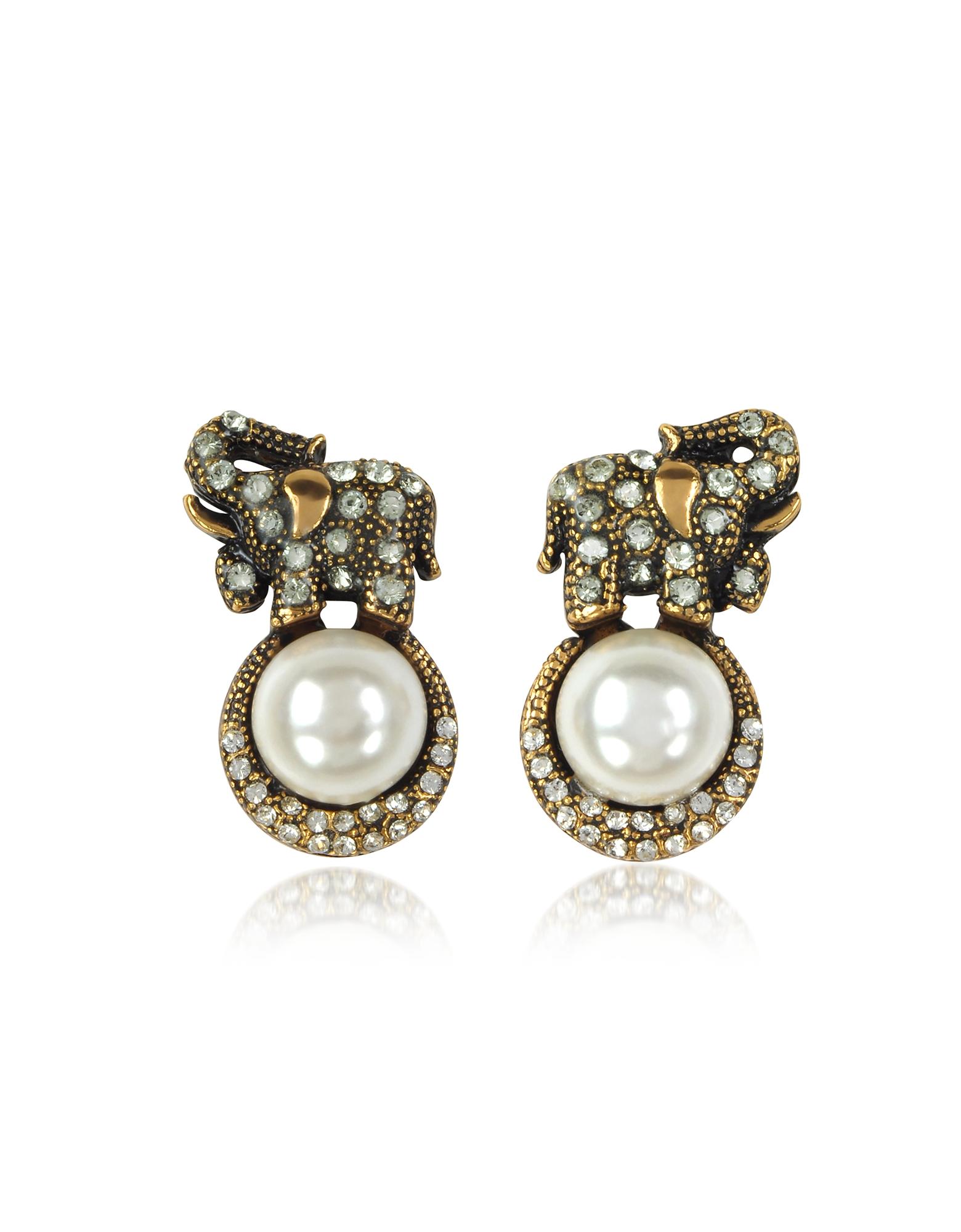 Forzieri coupon: Alcozer & J  Earrings Elephant Earrings w/Pearls