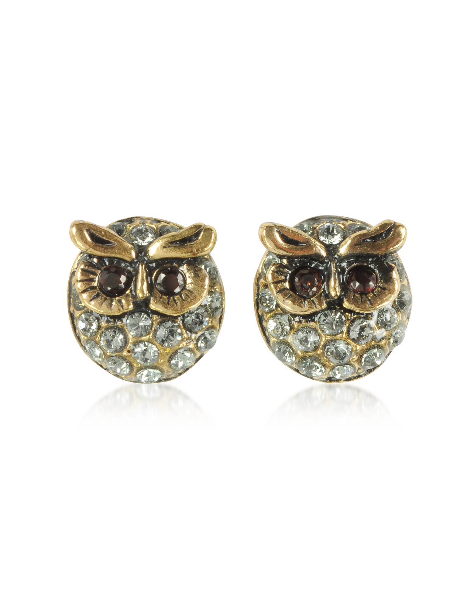 Forzieri coupon: Alcozer & J  Earrings Owl Earrings w/Crystals
