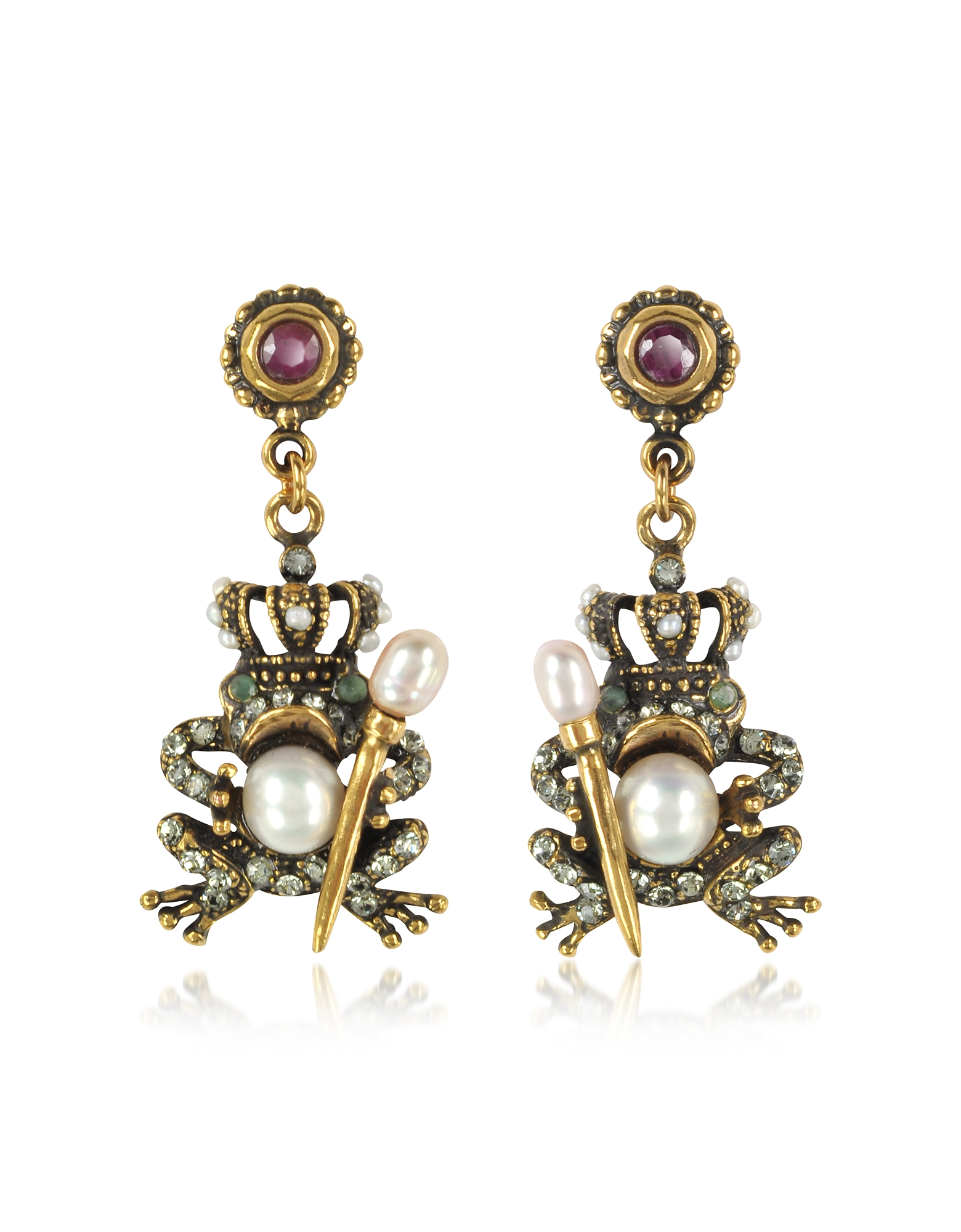 Forzieri coupon: Alcozer & J  Earrings The Frog Prince Earrings