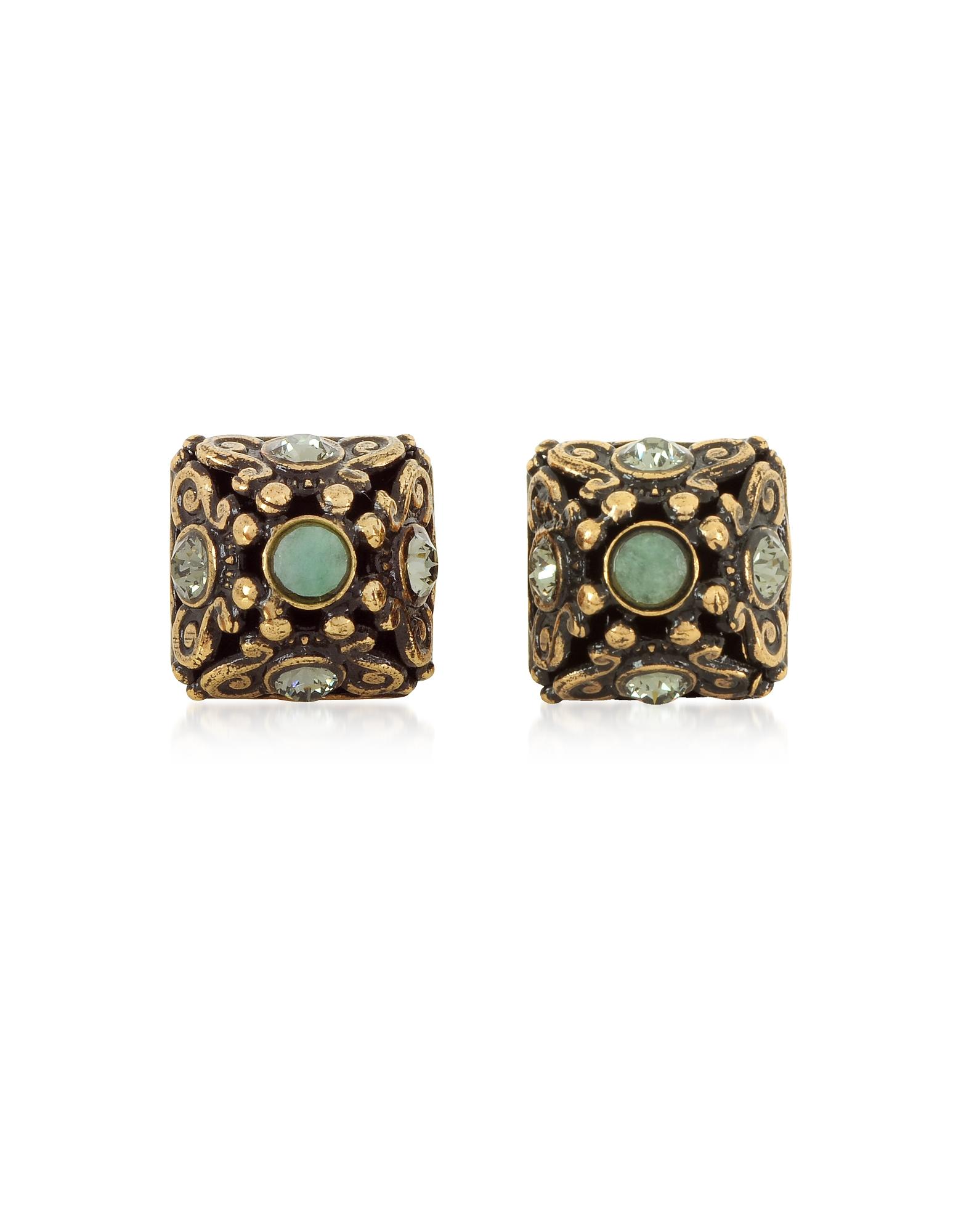 Forzieri coupon: Alcozer & J  Earrings Pyramid Earrings w/Semi Precious Stones