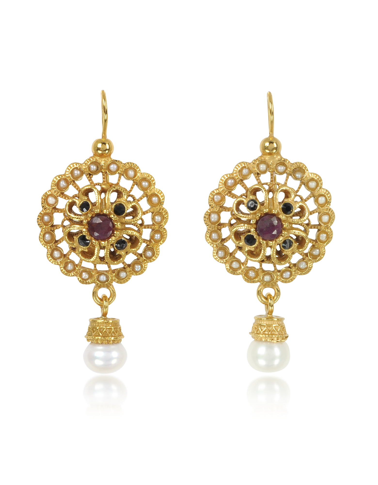 Forzieri coupon: Alcozer & J  Earrings Round Earrings w/Pearls